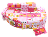 Sapphire - Apple Print Feeding Pillow Pink
