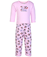 Tom And Jerry Print T Shirt With Leggings Pink Small, 0 - 6 Months, Soft and comfortable kids favor...