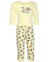 Tom And Jerry Print T Shirt With Leggings Yellow Small, 0 - 6 Months, Soft and comfortable kids favor...