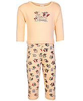 Tom And Jerry Print T Shirt With Leggings Orange Small, 0 - 6 Months, Soft and comfortable kids favor...