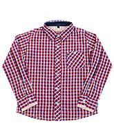 Quarter Spoon - Full Sleeves Checks Print Shirt