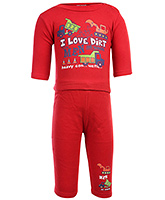 I Love Dirt Print T Shirt With Leggings Set Small, 0 - 6 Months, Full sleeves soft and comfortab...