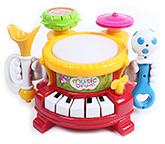 Music Drum With Light And Music 0 - 36 Months, 30.5 X 26 X 11 Cm, 6 Kinds Of Musical...