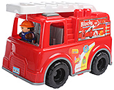 Fab N Funky - Blocks In Fire Van Shape Case 22 Pieces Red