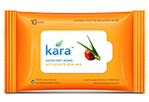 Kara Sunscreen Wipes With Plum & Aloe Vera