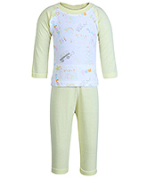 Full Sleeves T - Shirt With Leggings Set Medium, 6 - 12 Months, Soft and comfortable cotton t...