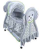 Cradle With Mosquito Net Kitty Print Grey 94.5 X 55 X 94 Cm, Cradle Covered With Mosquito Net ...