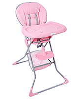Buy Fab N Funky High Chair With Safety Belt - Pink