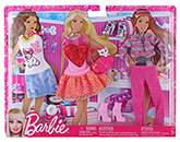 Barbie Fashionistas Party Theme Outfis 3 Years+, Includes 3 Outfits, 1 Pair Of Boots, 1 Pur...