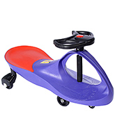 Fab N Funky - Manual Push Swing Sleek Car Purple - 75 X 31 X 40 Cm