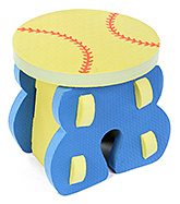 Fab N Funky - Ball Shape EVA Foam Kids Stool Blue
