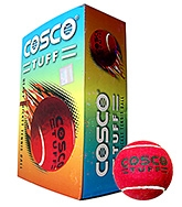 Cosco Tuff Heavy Cricket Tennis Ball - 6 Balls In One Box Red - 10 Years+