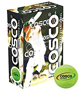 Cosco Cricket Tennis Ball - 6 Balls In One Box Green - 10 Years+