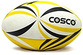 Cosco Sportco Rugby Ball 5 Size 5, Hand Stitched By Craftsman Along The Seam Li...