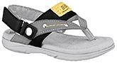 Buy Elefantastik Sandals with Designer Strap and Velcro Closure  - Grey