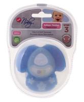 Nuby - Softees Teether Hard and Soft Step 3 Blue
