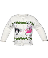 Sweater with Lace - Horse Print