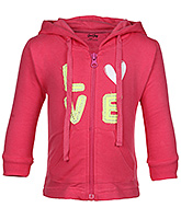 Full Sleeves Hooded Jacket With Pockets 6 - 12 Months, Fashionable knit hooded jacket with p...