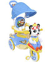 Fab N Funky Tricycle With Canopy And Push Handle Bear Shape