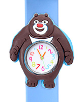 Fab N Funky - Kids Watch Smiling Bear Shape Sky Blue