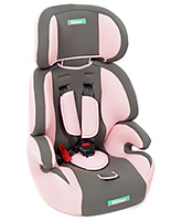Fab N Funky High Back Car Seat Pink N Grey - Upto 14 Kg