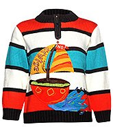 Baby Hug - Multicolord Striped Full Sleeves Sweater