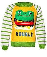 Baby Hug - Frog Print Pull Over Sweater