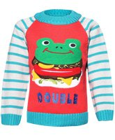Baby Hug - Frog Print Pull Over Sweater