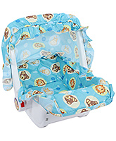 Fab N Funky 2 In 1 Carry Cot Cum Rocker - Animal Print Blue