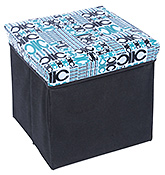 Buy Fab N Funky - Foldable Square Storage Box Blue And Black
