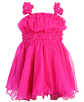 Babyhug Singlet Sequins Bodice Party Wear Frock