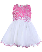 Babyhug Sleeveless Party Dress With Sequins