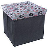 Foldable Square Storage Box With Abstract Print Grey 31 X 31 X 29.5 Cm, Made Up Of Nonwoven Quality Cloth...
