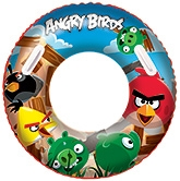 Bestway Angry Birds Swim Ring 91 Cm, 3 - 6 Years, Inflatable And Assorted Colors