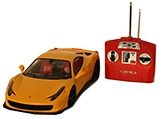 Adraxx Remote Control Toy Car Model Ferrari All Function And Light - 6 Years+
