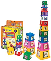 Girnar Stacking Tower Multi Color - 11 Pieces
