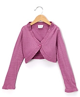 Buy Beebay - Full Sleeves Pink Shrug With Frill