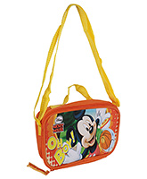 Disney - Mickey Mouse Print Lunch Bag Orange