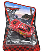 Disney Pixar Cars 2 Lightning McQueen Toy Mobile Phone With Sound Red