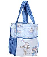 Buy Duck Mother Bag Blue - Teddy Print