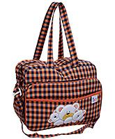 Buy Duck Mother Bag Black And Orange - Checks Print