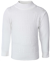 Buy Babyhug Full Sleeves Cable Stitch Sweater - Ribbed High Neck