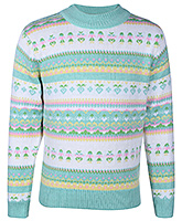 Babyhug Full Sleeves High Neck Sweater - Multi Pattern