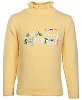 Buy Babyhug Full Sleeves High Neck Sweater - Kitty Print