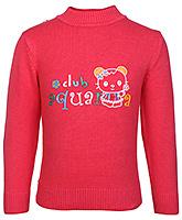 Buy Babyhug Full Sleeves Polo Neck Sweater - Kitty Print