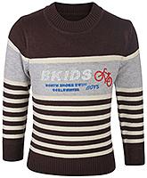 Buy Babyhug Full Sleeves Sweater - Cycle Print