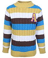 Babyhug Full Sleeves Multi Colour Stripes Design Sweater