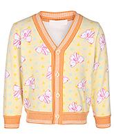 Buy Babyhug Full Sleeves Cardigan - Floral Design