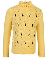 Buy Babyhug Full Sleeves Stylish High Neck Sweater
