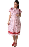 Buy Morph Classy White and Red Dress